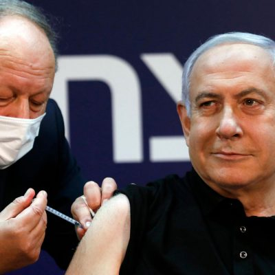 Prime minister Benjamin Netanyahu is the first Israeli to receive the Pfizer vaccine